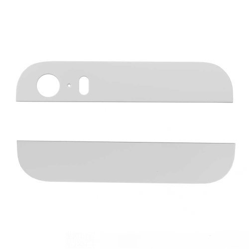 White Top and Bottom Glass Cover Replacement for iPhone 5s