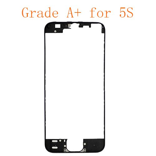 For iPhone 5S Frame Bezel with Hot Melt Glue or 3M Sticker Attached Black Grade A+