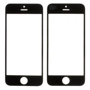 For iPhone 5S/5/5C Front Glass Lens Black