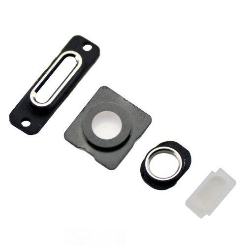 White 4pcs/set Rear Housing Small Components for iPhone 5s