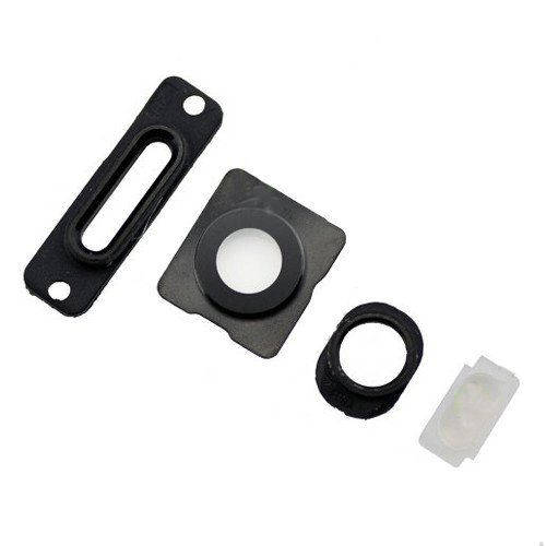 Black 4pcs/set Rear Housing Small Components for iPhone 5s