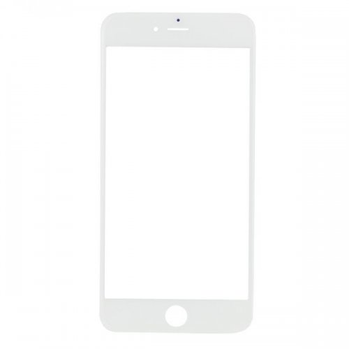 For iPhone 6 Plus Front Glass Lens White