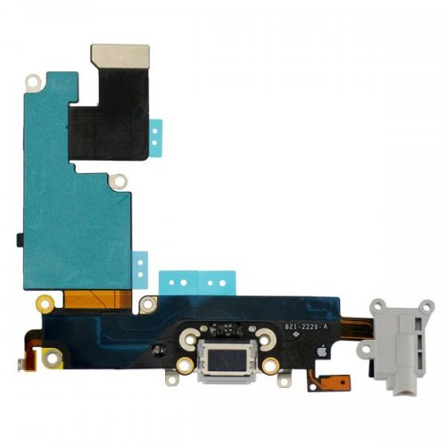 Charging Port Flex Cable Ribbon for iPhone 6 Plus - Light Gray
