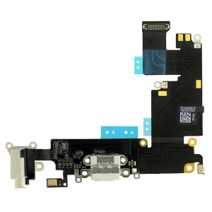Charging Port Flex Cable Ribbon for iPhone 6 Plus - White Original
