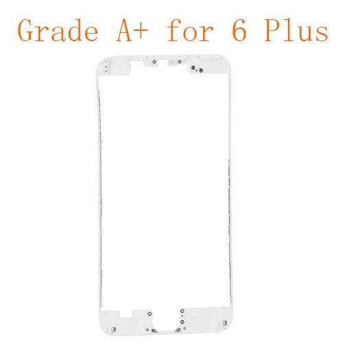 For iPhone 6 Plus Front LCD Screen Bezel Frame with Hot Melt Glue Attached White Grade A+