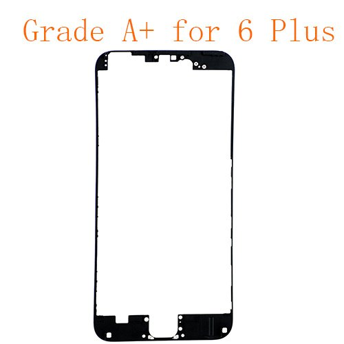 For iPhone 6 Plus Front LCD Screen Bezel Frame with Hot Melt Glue Attached Black Grade A+