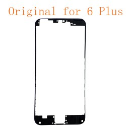 For iPhone 6 Plus Front LCD Screen Bezel Frame with Hot Melt Glue Attached Black Original