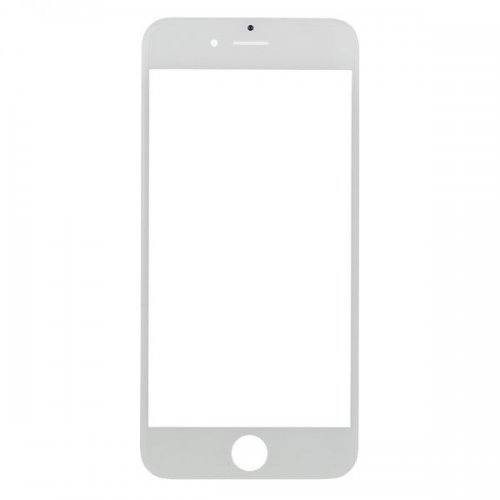 For iPhone 6 Front Glass Lens White
