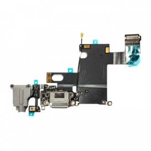 Charging Port and Headphone Jack Flex Cable for iPhone 6 Light Gray Original