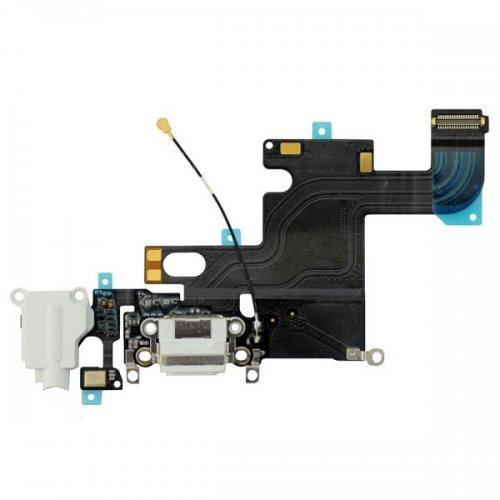Original for iPhone 6 Charging Port and Headphone Jack Flex Cable White Original