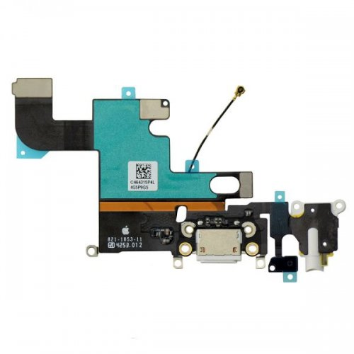 Original for iPhone 6 Charging Port and Headphone Jack Flex Cable White