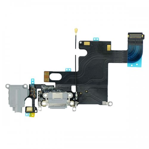Charging Port and Headphone Jack Flex Cable for iPhone 6 Dark Gray Original