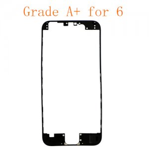 For iPhone 6 LCD Front Supporting Frame with Hot Melt Glue Attached  Black Grade A+