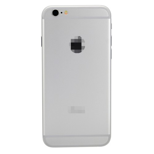 For iPhone 6 Battery Cover Rear Cover with Small Parts Assembly White/Silver
