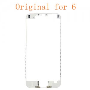 For iPhone 6 LCD Front Supporting Frame with Hot Melt Glue Attached White Original