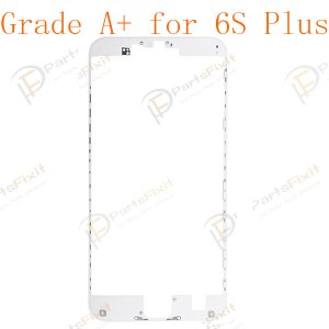 LCD Frame with Hot Melt Glue for iPhone 6S Plus White Grade A+