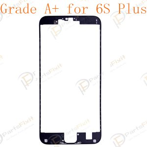 LCD Frame with Hot Melt Glue for iPhone 6S Plus Black Grade A+