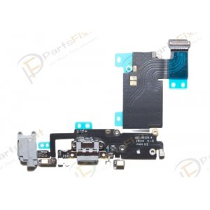 Charging Port Flex Cable for iPhone 6S Plus Light Gray Original
