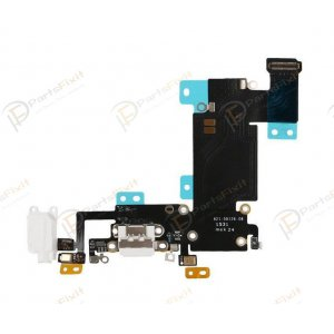Charging Port Flex Cable for iPhone 6S Plus White Original