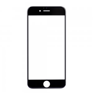 "Front Glass Lens for iPhone 6S 4.7"" Black"