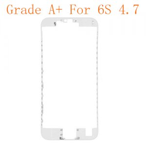 "LCD Frame with Hot Melt Glue for iPhone 6S 4.7"" White Grade A+"
