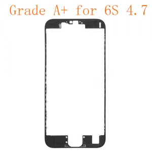 "LCD Frame with Hot Melt Glue for iPhone 6S 4.7"" Black Grade A+"