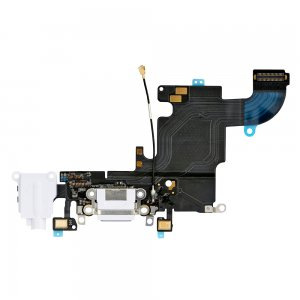 "Charging Port Flex Cable with Earphone Flex for iPhone 6S 4.7"" White Original"