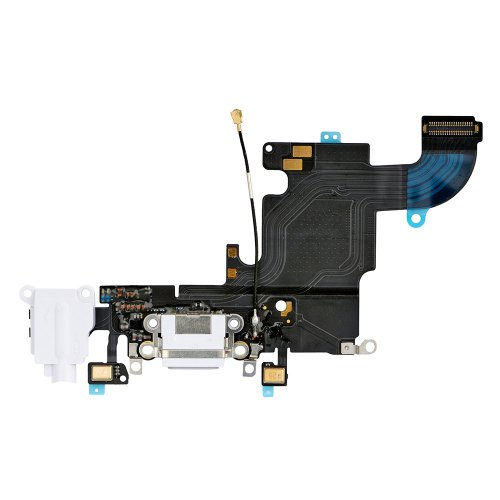 Charging Port Flex Cable with Earphone Flex for iP...