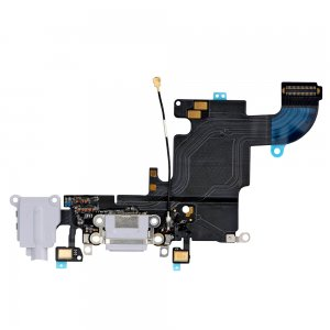 "Charging Port Flex Cable with Earphone Flex for iPhone 6S 4.7"" Light Grey Original"
