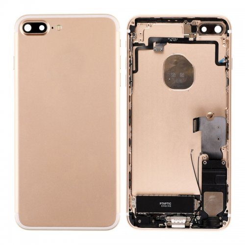For iPhone 7 Plus Battery Cover with Small Parts Assembly Gold