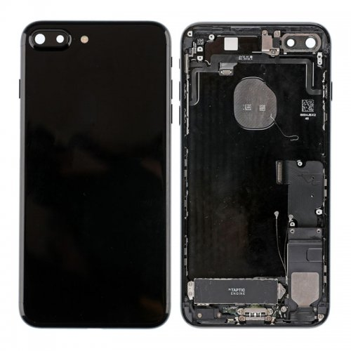 For iPhone 7 Plus Battery Cover with Small Parts Assembly Jet Black