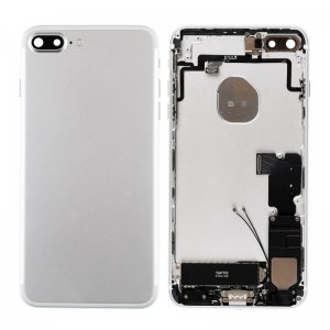 For iPhone 7 Plus Battery Cover with Small Parts Assembly Silver