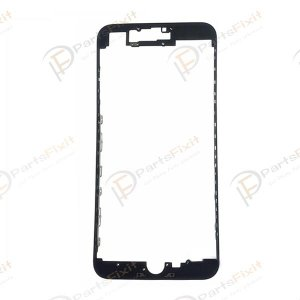 For iPhone 7 Plus Display Frame Bezel with Hot melt Glue Black Grade A+