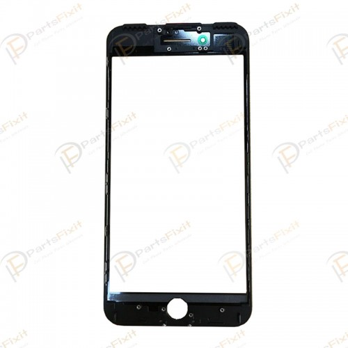 For iPhone 7 Front Glass with Frame and OCA Pre-installed Black Original Glass Cold Press