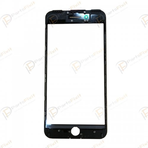 For iPhone 7 Plus Front Glass with Frame and OCA Pre-installed Black Original Glass Cold Press