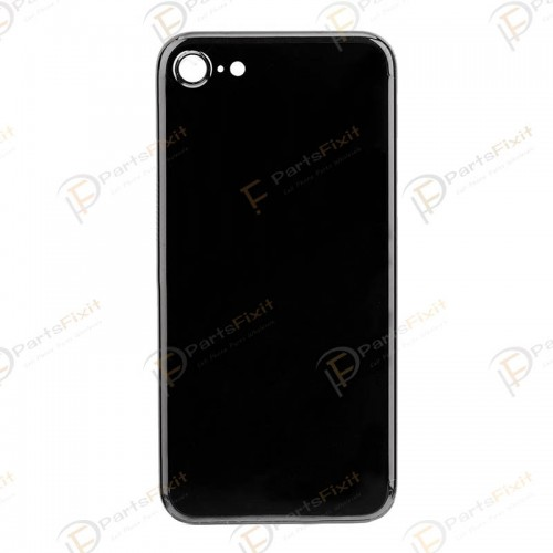 For iPhone 7 Back Cover Replacement Jet Black