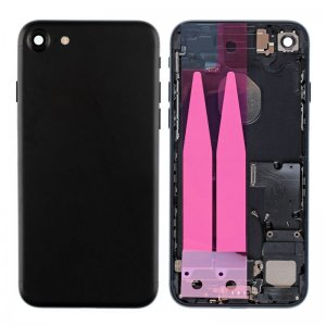 For iPhone 7 Back Cover with Small Parts Assembly Black
