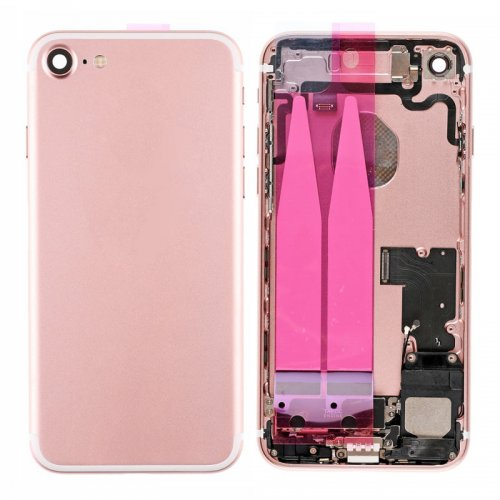 For iPhone 7 Back Cover with Small Parts Assembly Rose Gold