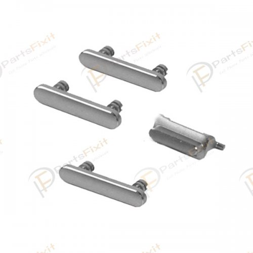 For iPhone 7 4 in 1 Side Buttons Silver