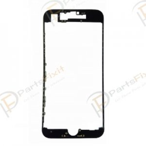 For iPhone 7 Display Frame Bezel with Hot Melt Glue Black Grade A+
