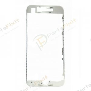 For iPhone 7 Display Frame Bezel with Hot Melt Glue White Grade A+