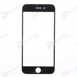 For iPhone 7 Front Glass Lens Black
