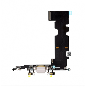 Charging Port Flex Cable for iPhone 8 Plus White Original
