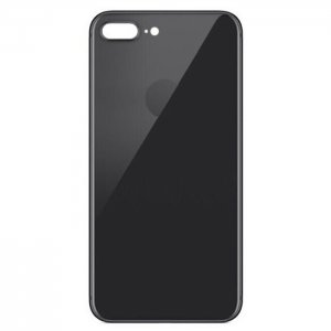 For iPhone 8 Plus Back Glass Black