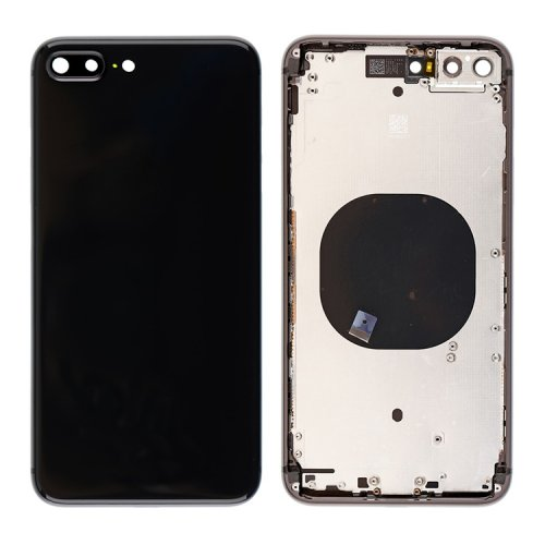 For iPhone 8 Plus Back Cover with Frame Black