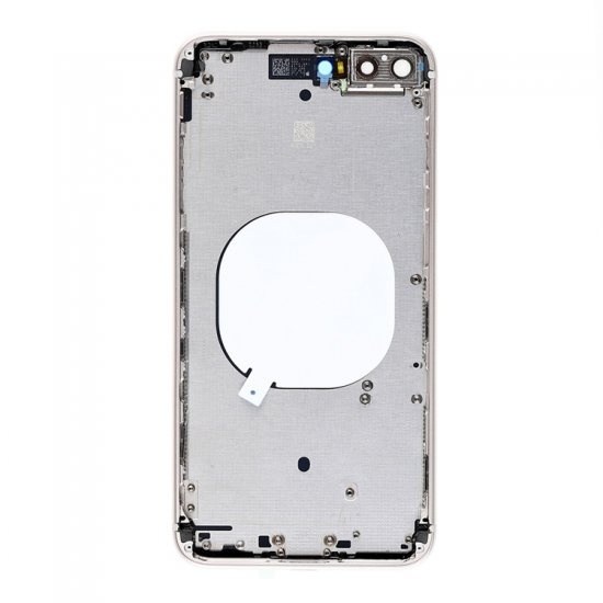 For iPhone 8 Plus Back Cover with Frame White