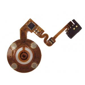 Turnplate flex cable for iPod nano 2 Black