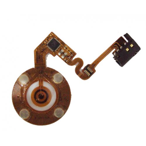 Turnplate flex cable for iPod nano 2 Black