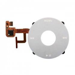 Original White Click Wheel Flex Cable Ribbon  Replacement for iPod Video