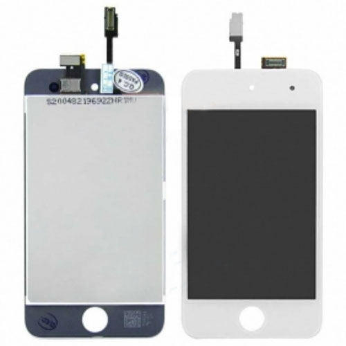 White Original lcd with high copy glass assembly for ipod touch 4th gen